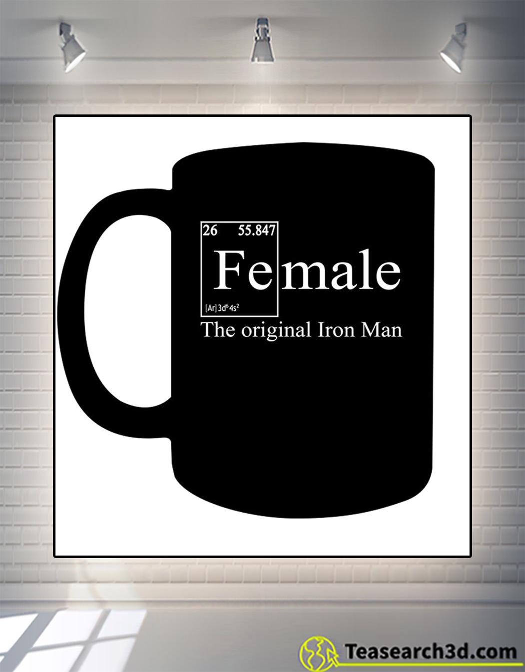 Female the original iron man mug 15oz