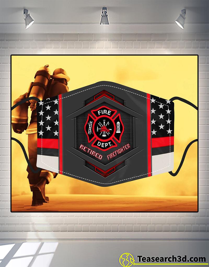 Firefighter retired flag face mask