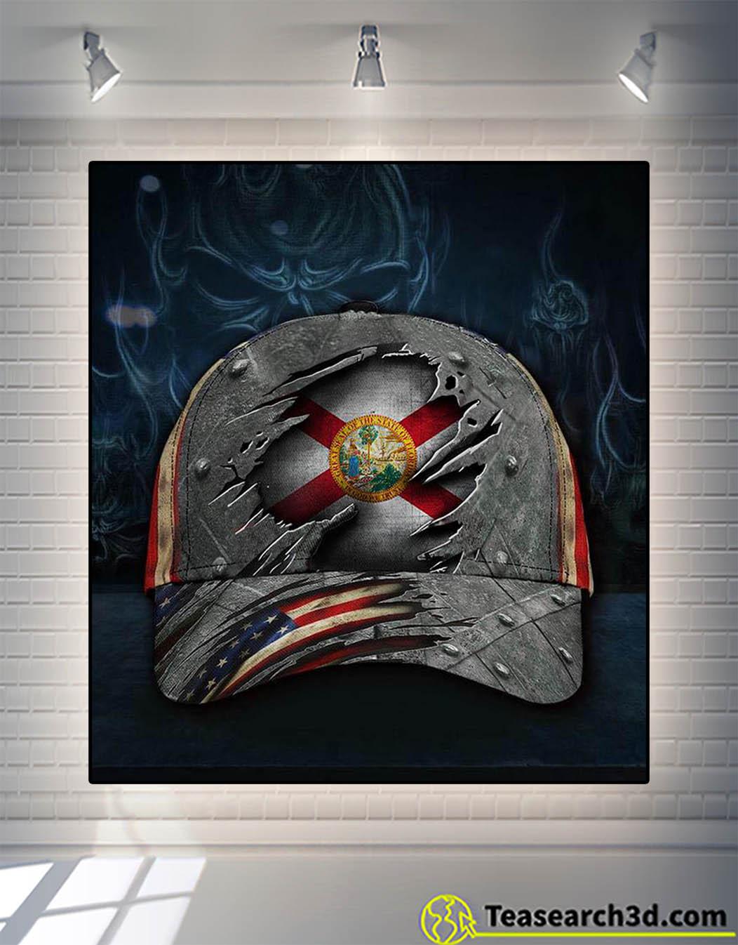 Florida state flag patriotic cap 1