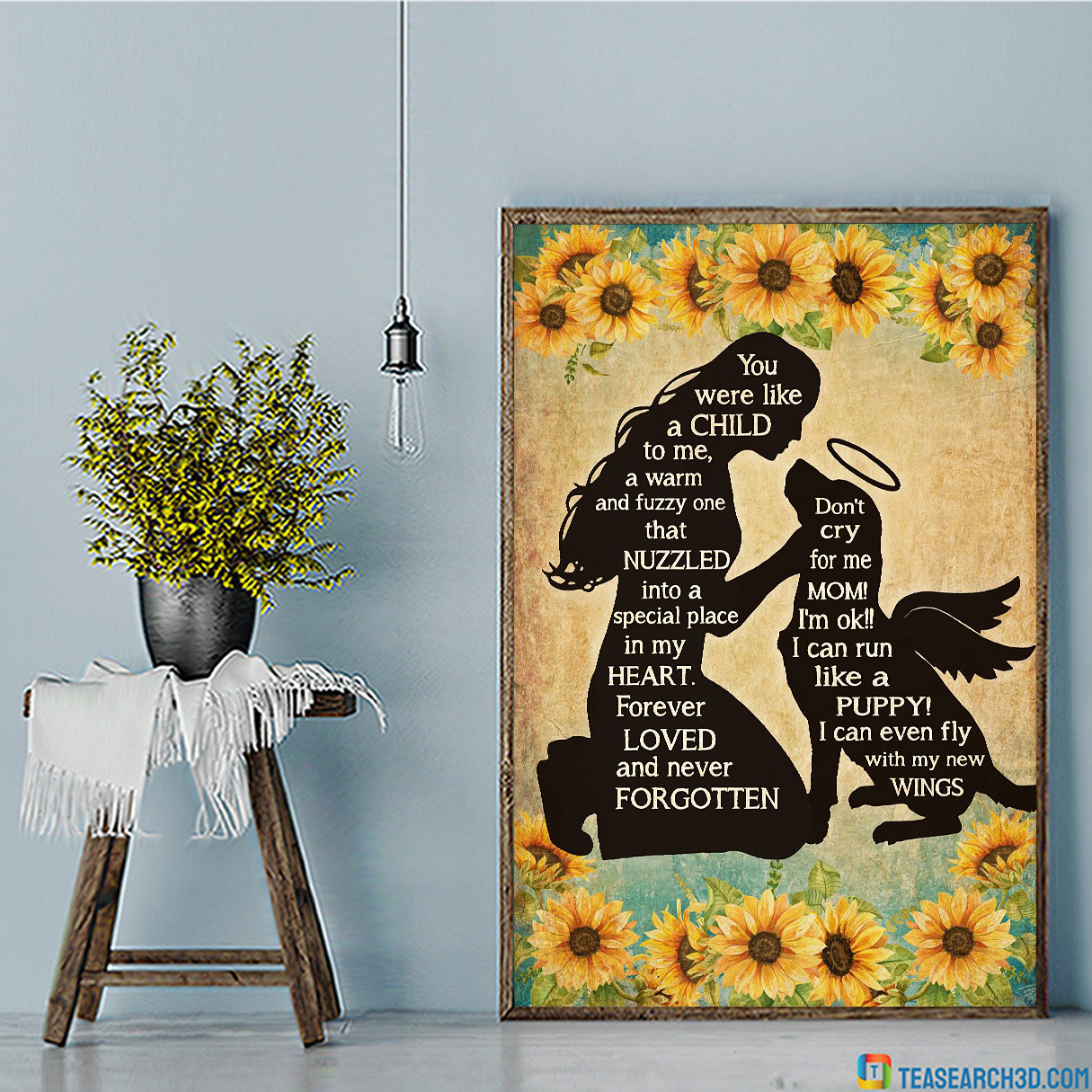Girl and dog you were like a child to me poster A1