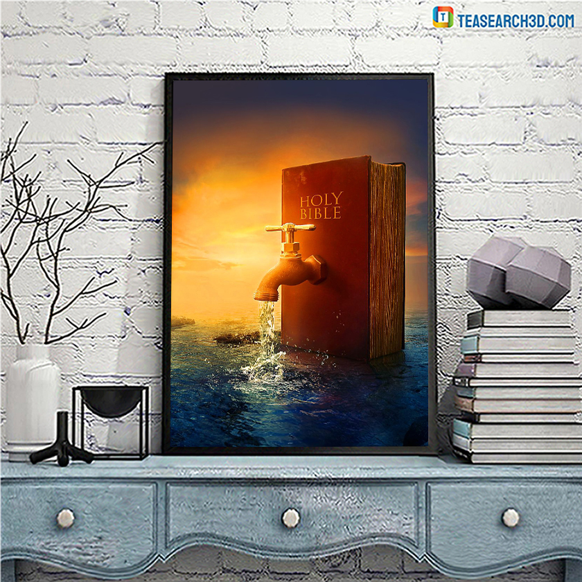 God The Fountain Of Life Holy Bible poster