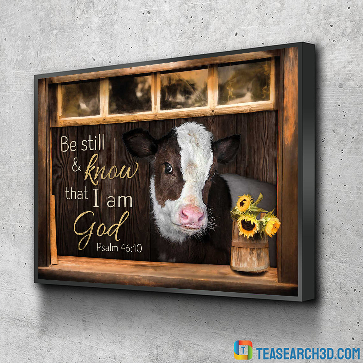 Hereford cattle be still and know that I am god canvas 1