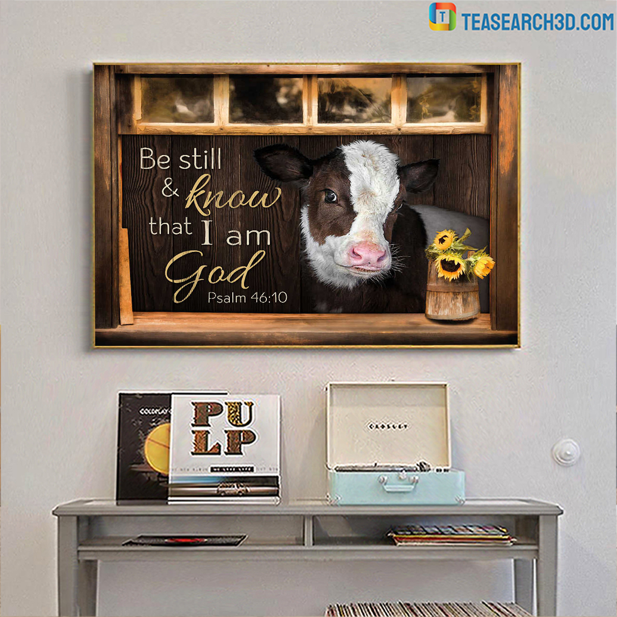 Hereford cattle be still and know that I am god canvas large