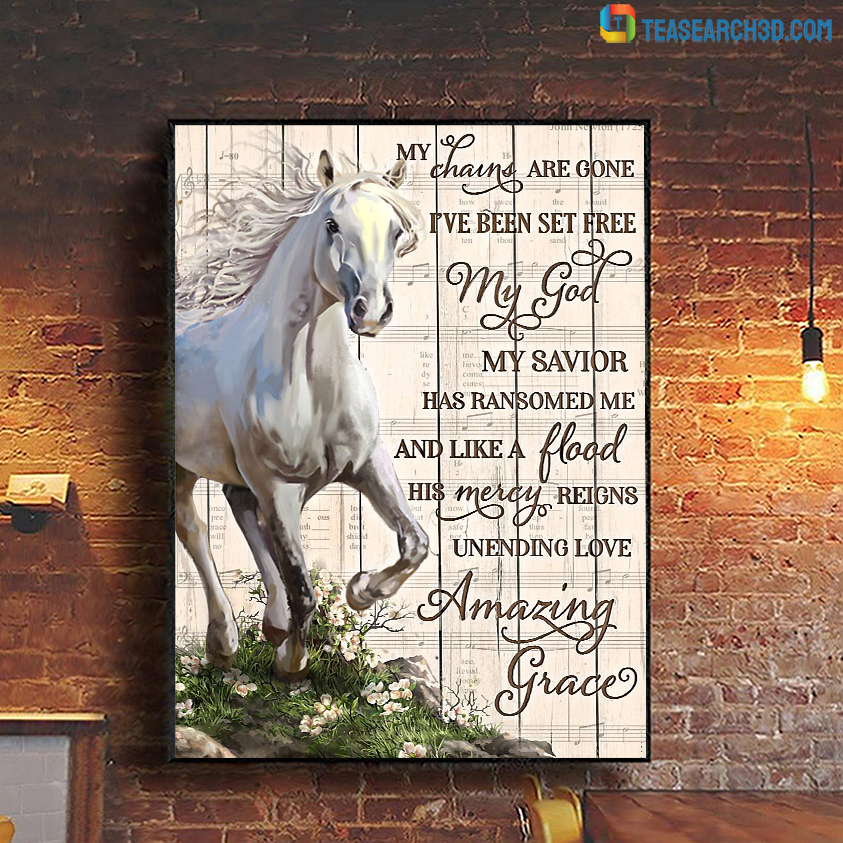 Horse my chains are gone poster A1