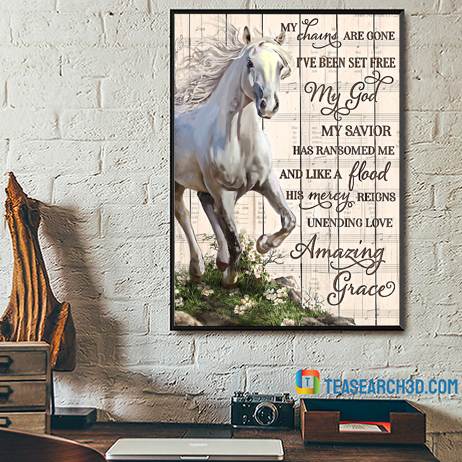 Horse my chains are gone poster A2