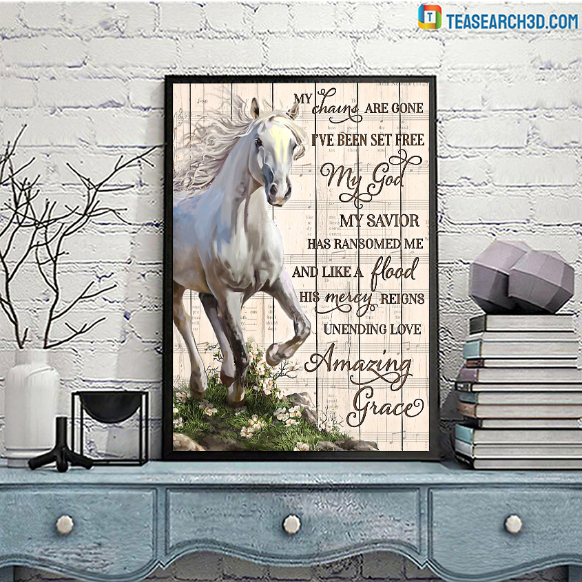 Horse my chains are gone poster A3