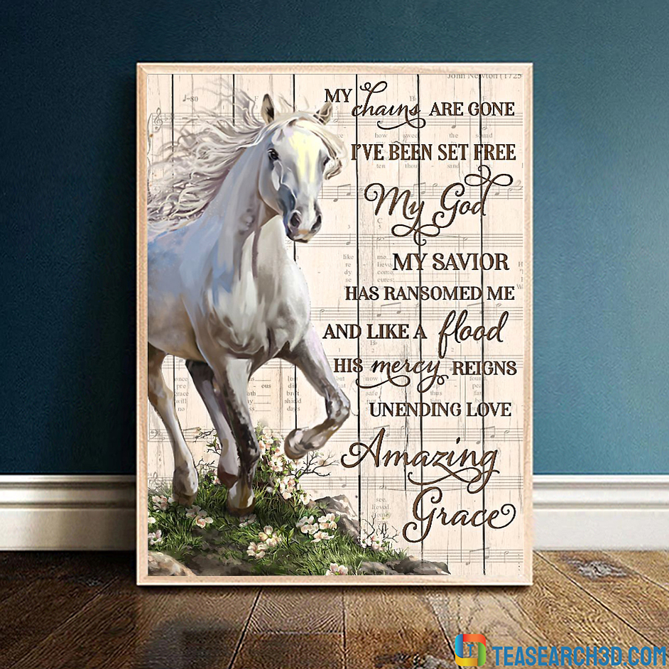 Horse my chains are gone poster
