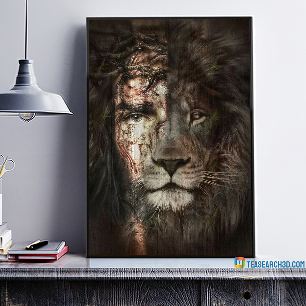 Jesus and lion the perfect combination canvas 1