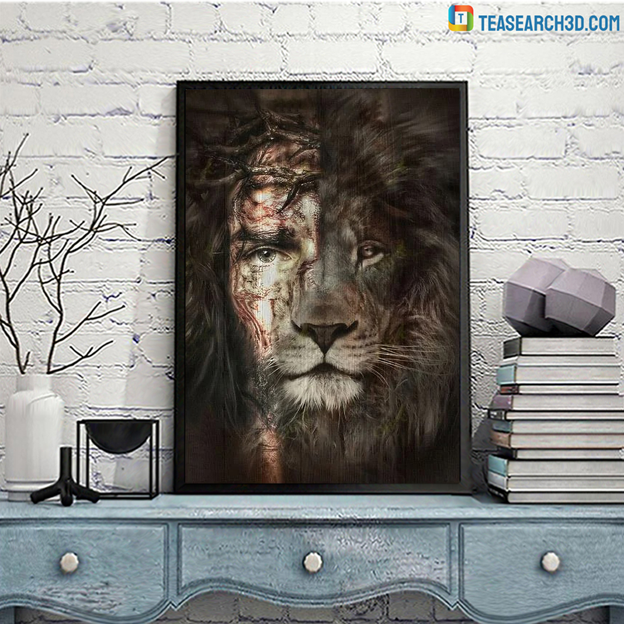 Jesus and lion the perfect combination canvas large