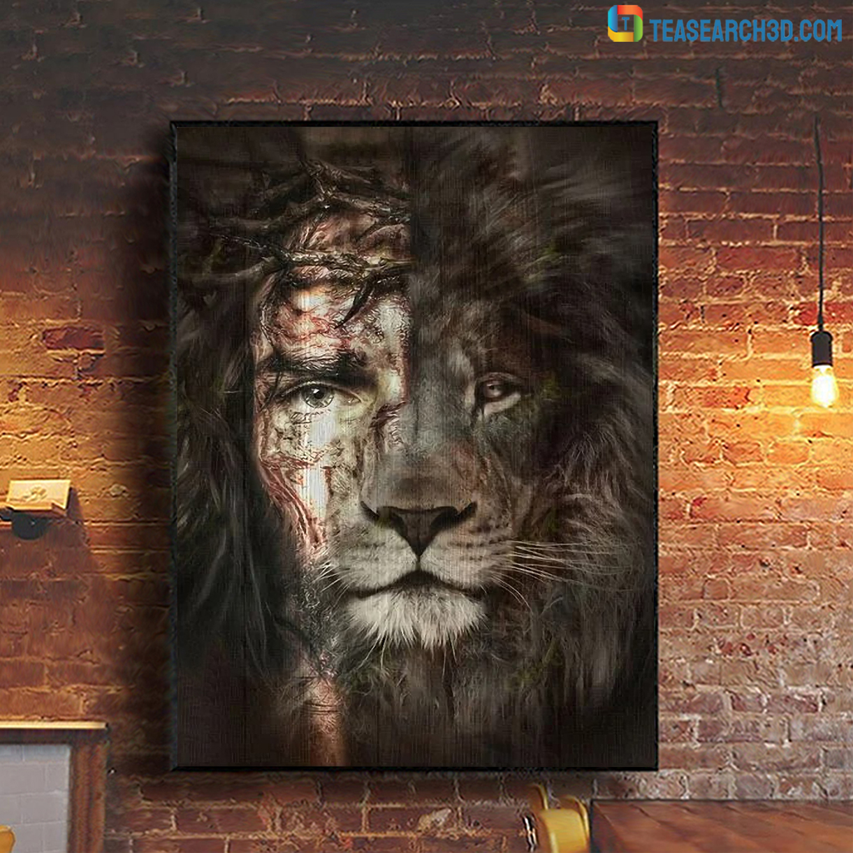 Jesus and lion the perfect combination canvas small