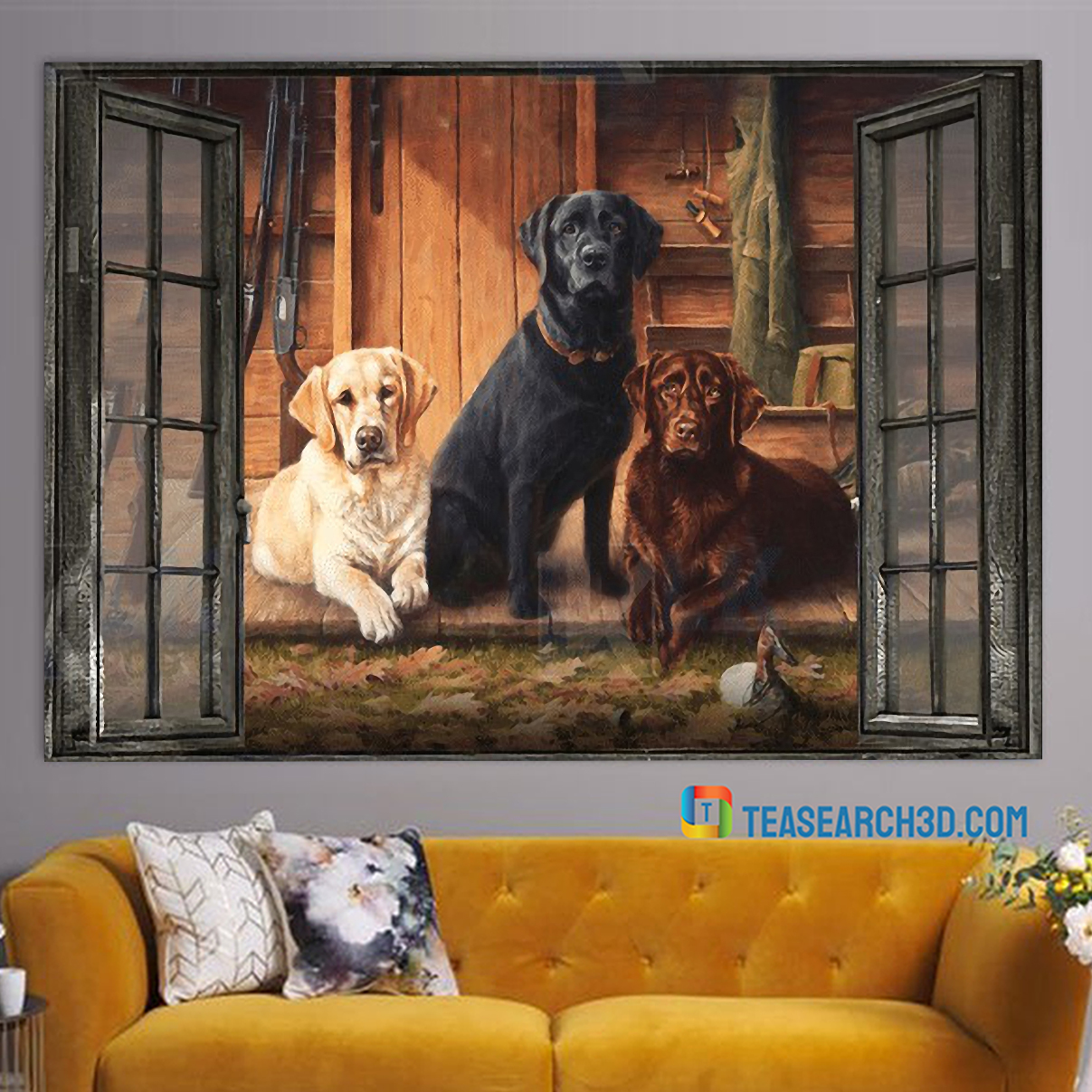 Labrador by the window canvas 1