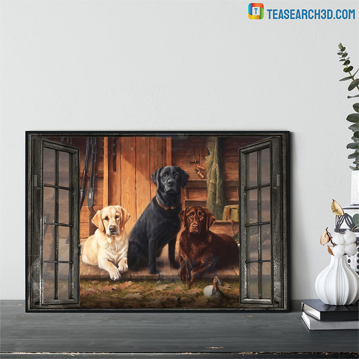Labrador by the window canvas large