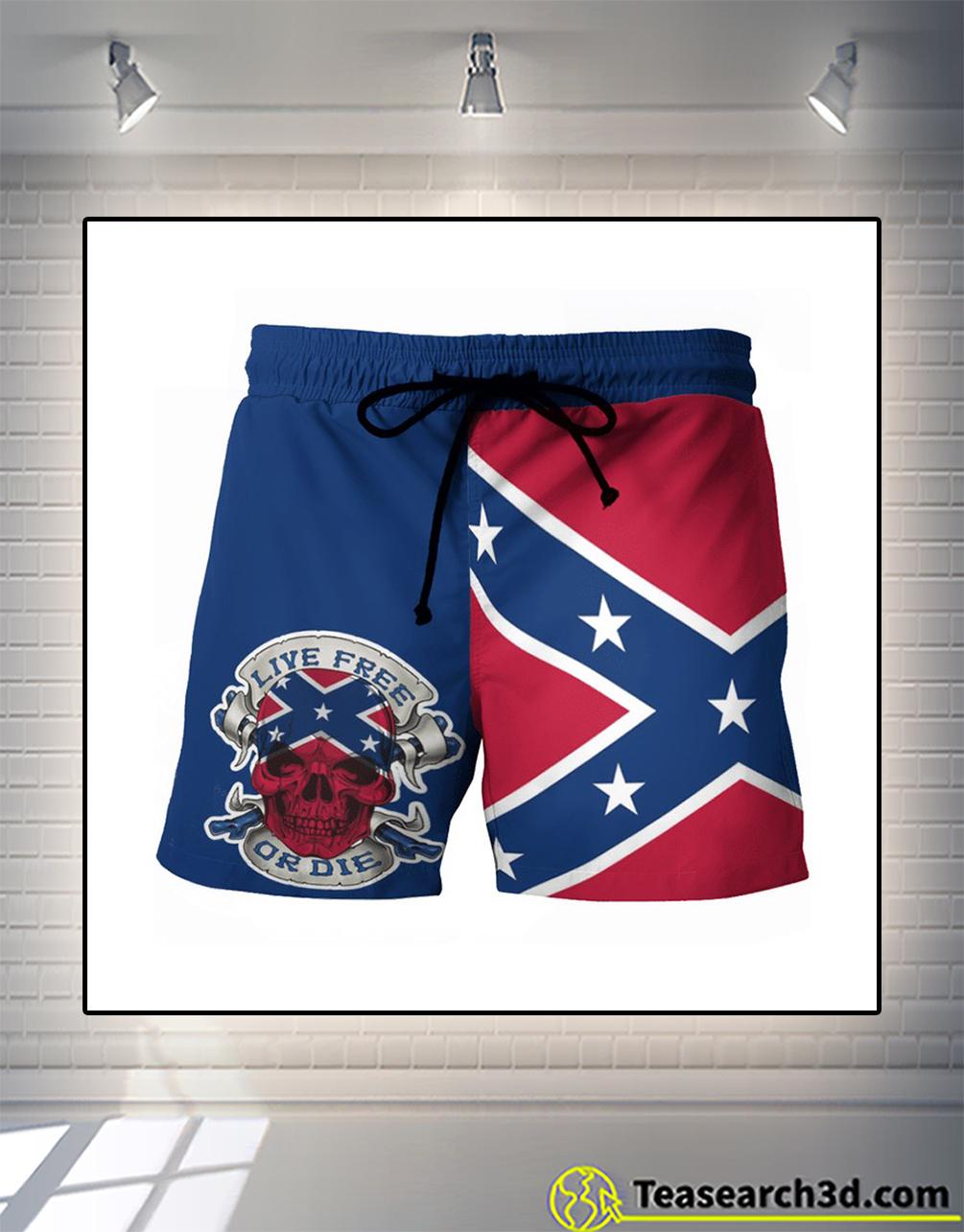 Live free or die american beach shorts