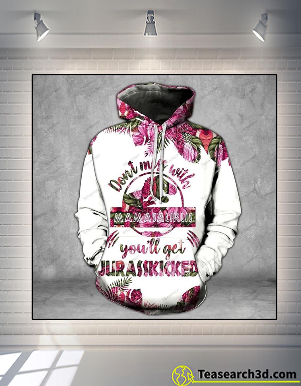 Mamasaurus pink legging and hoodie