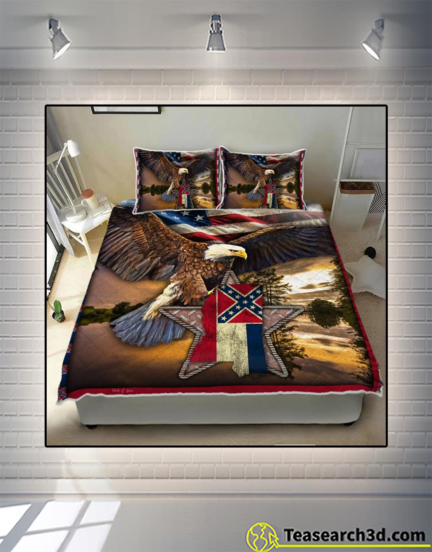 Mississippi eagle quilt bed set 2