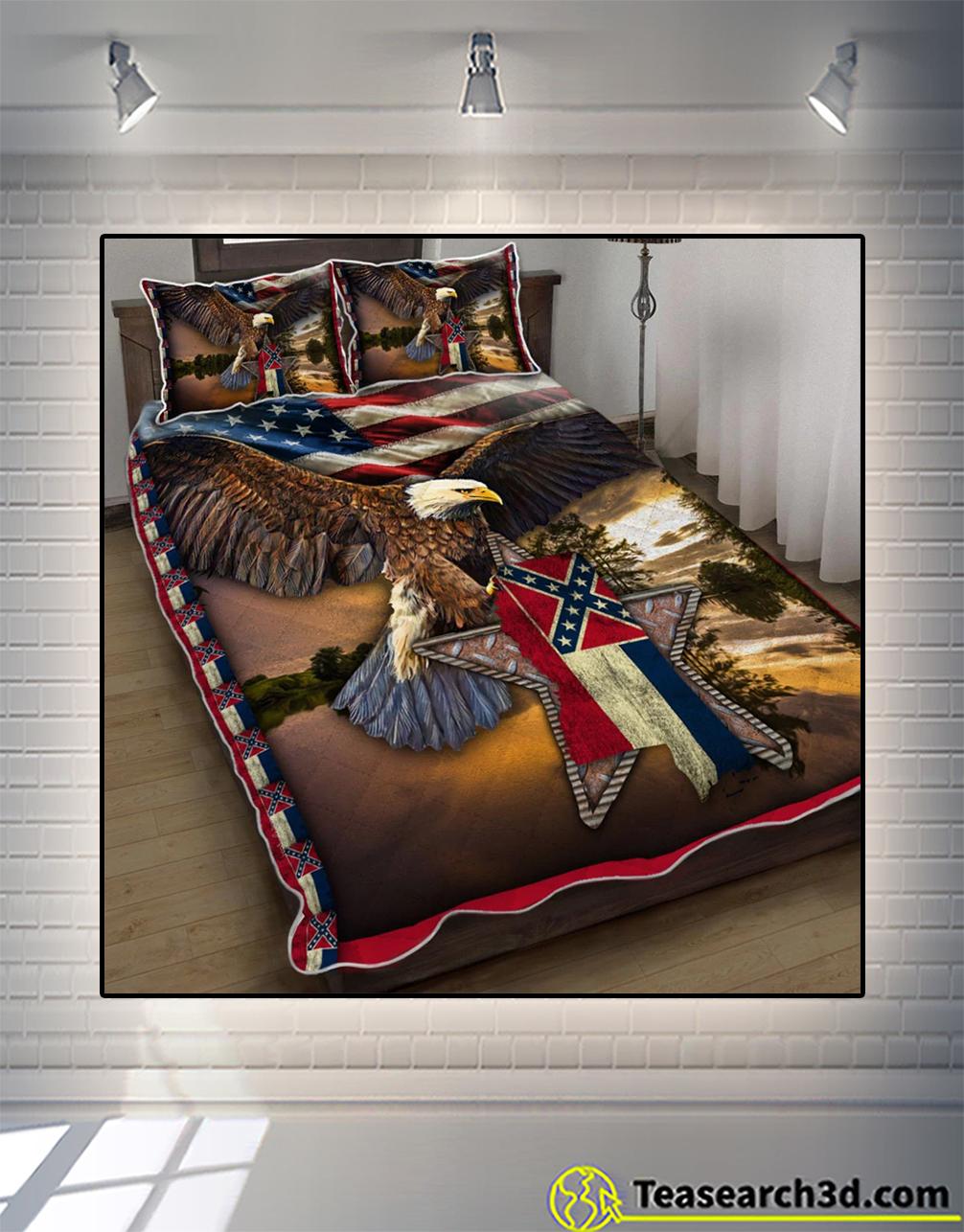 Mississippi eagle quilt bed set