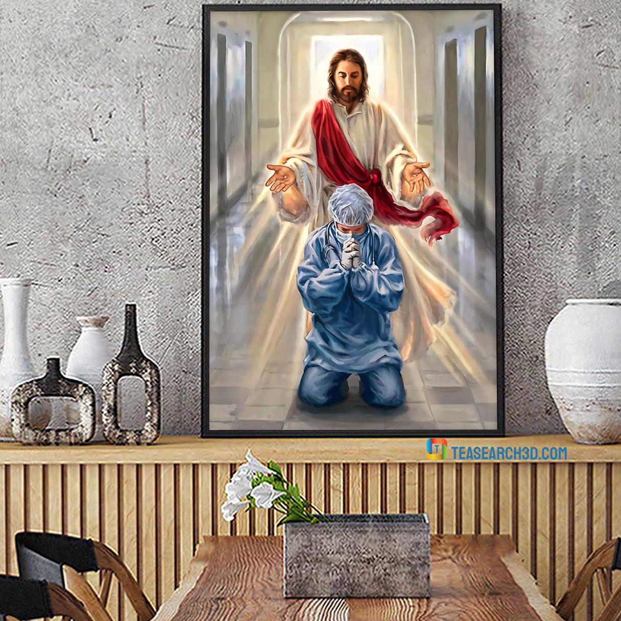 Nurse jesus I trust in you poster A1
