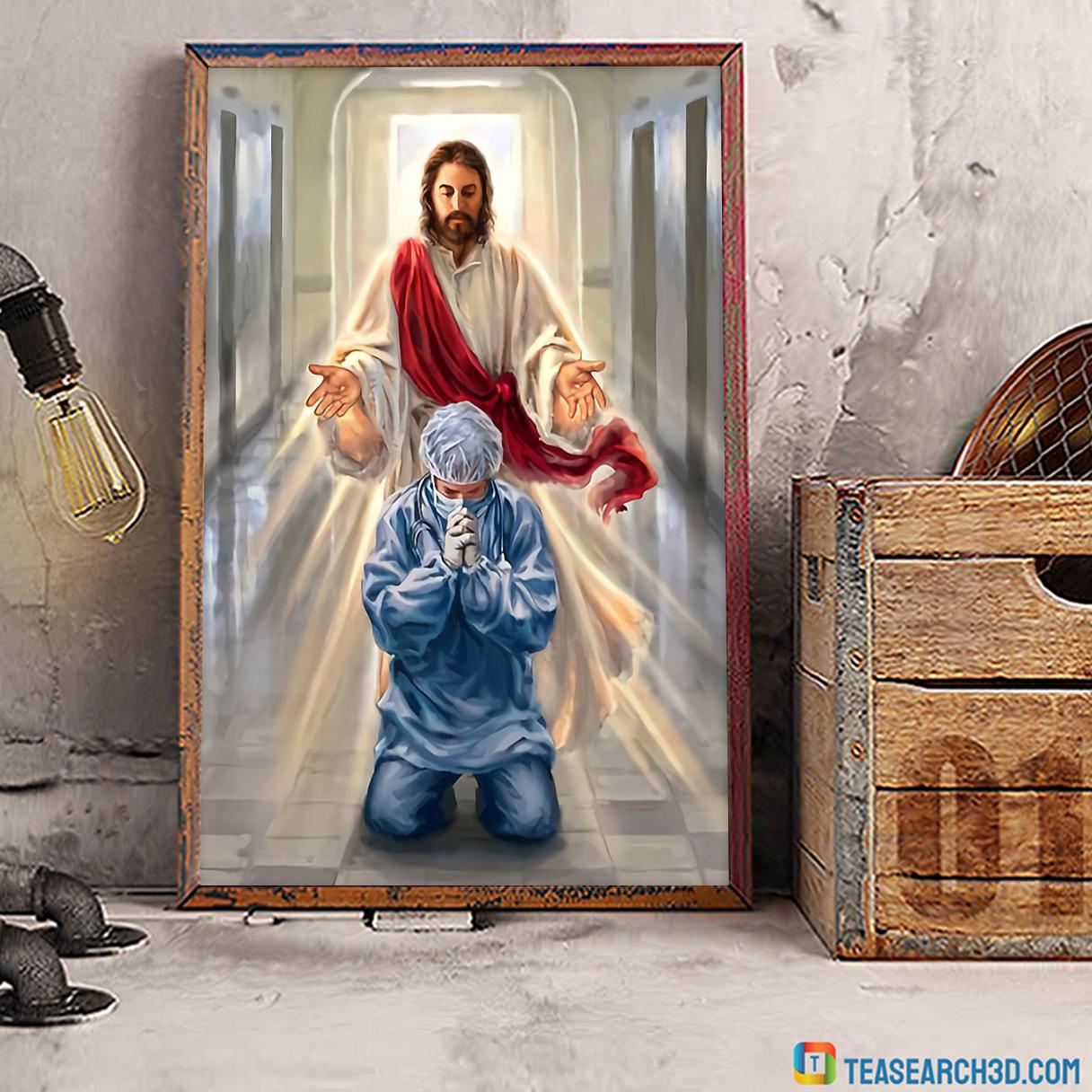 Nurse jesus I trust in you poster A3