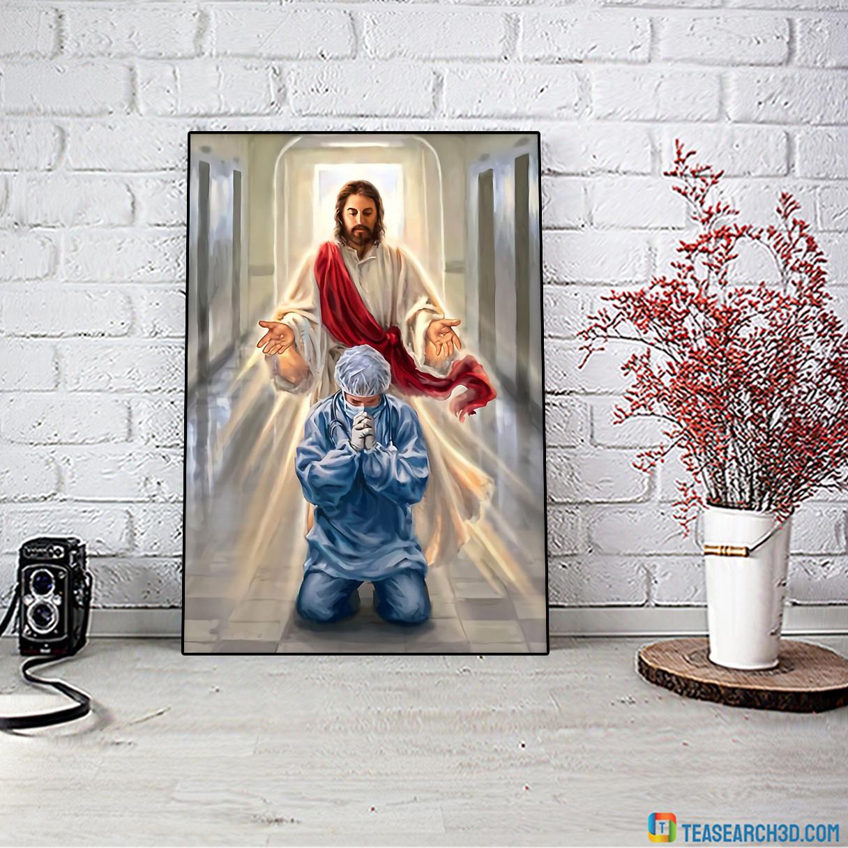 Nurse jesus I trust in you poster A4