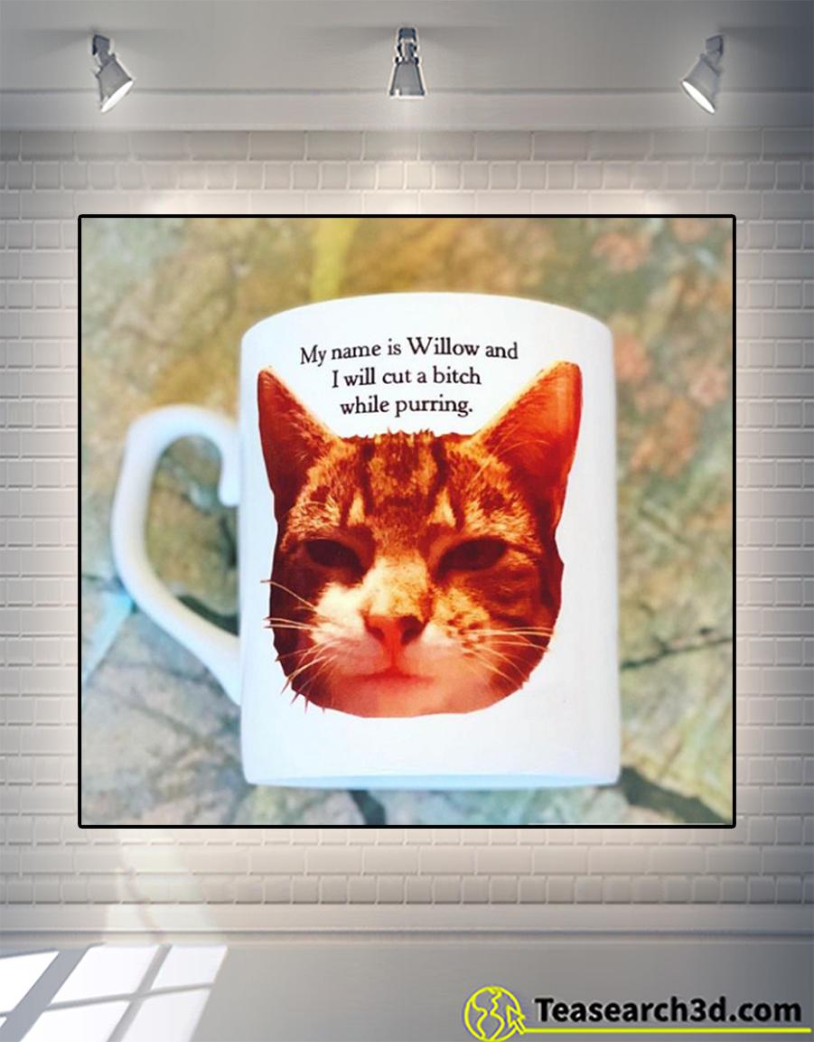 Personalized custom name I will cut a bitch while purring mug 11oz