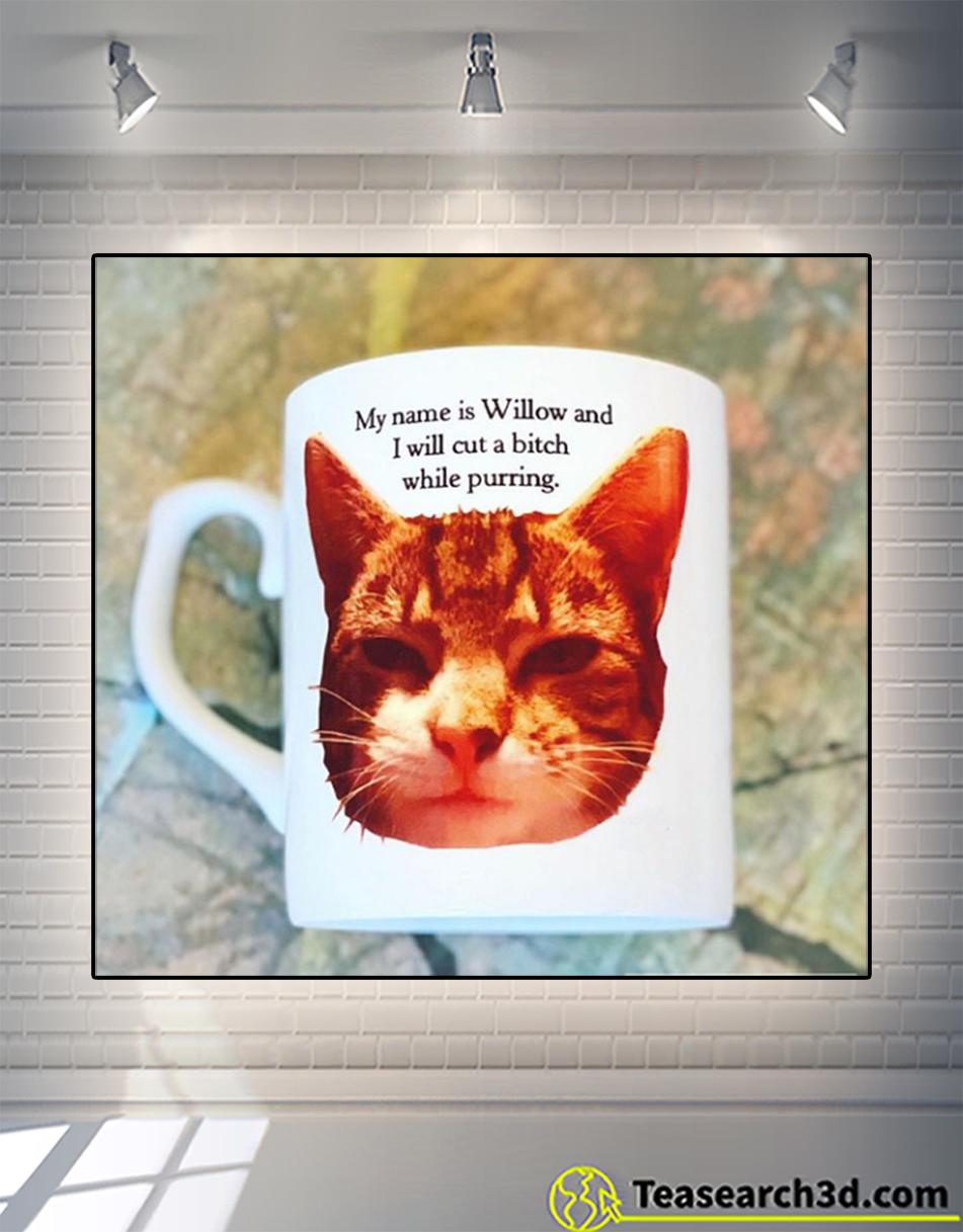Personalized custom name I will cut a bitch while purring mug 15oz