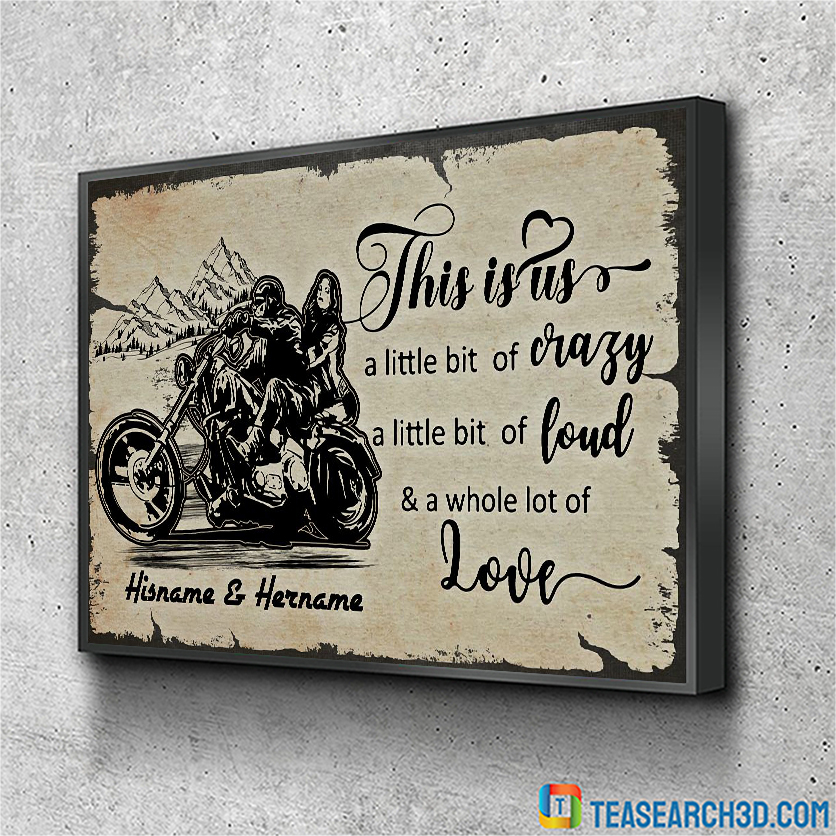 Personalized custom name biker this is us poster A1
