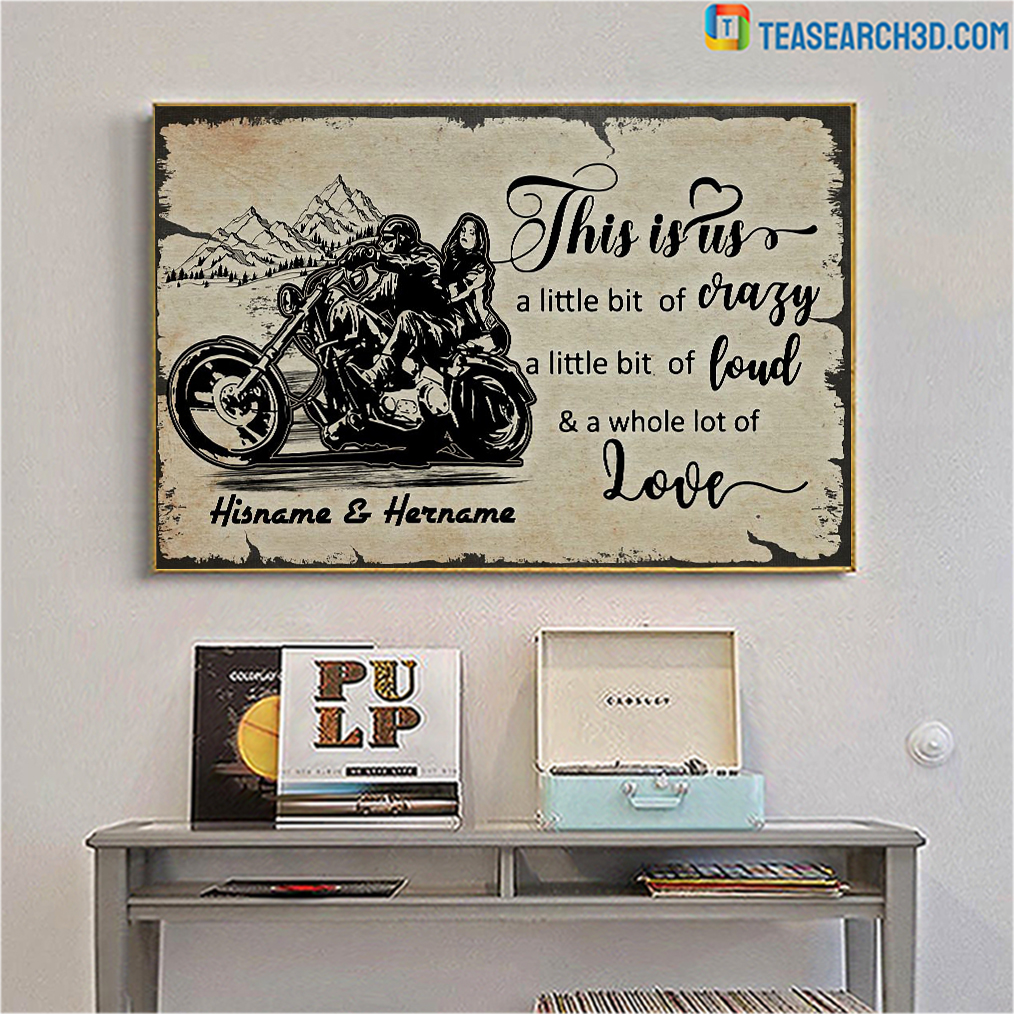 Personalized custom name biker this is us poster