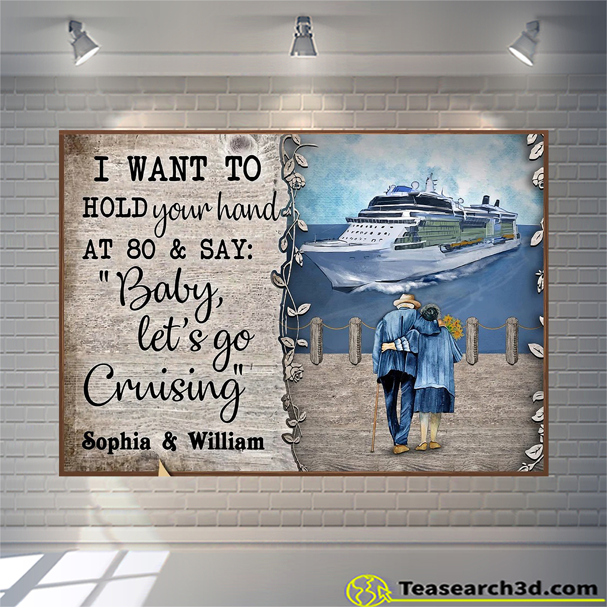 Personalized custom name cruising harbor baby let's go poster A1