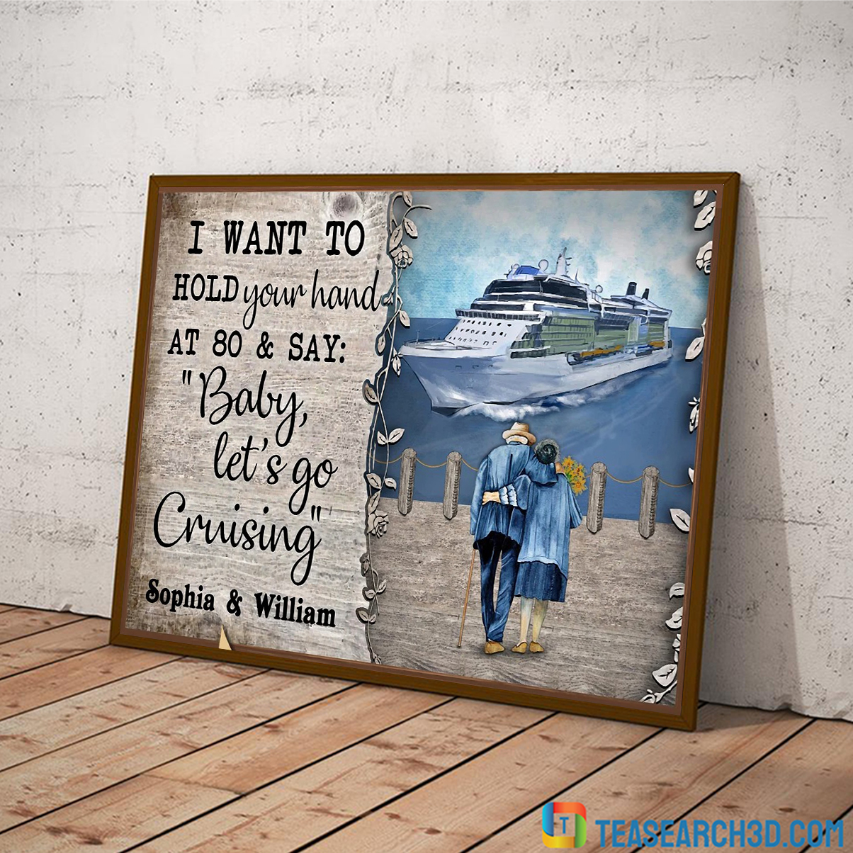 Personalized custom name cruising harbor baby let's go poster A4