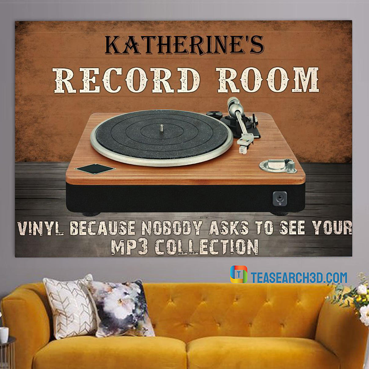 Personalized custom name record room vinyl because nobody asks to see poster A1