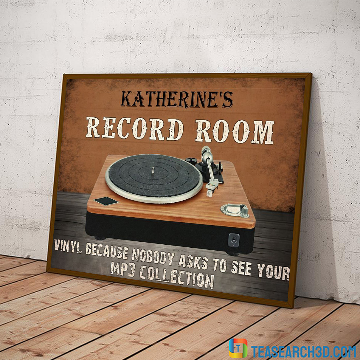 Personalized custom name record room vinyl because nobody asks to see poster A2