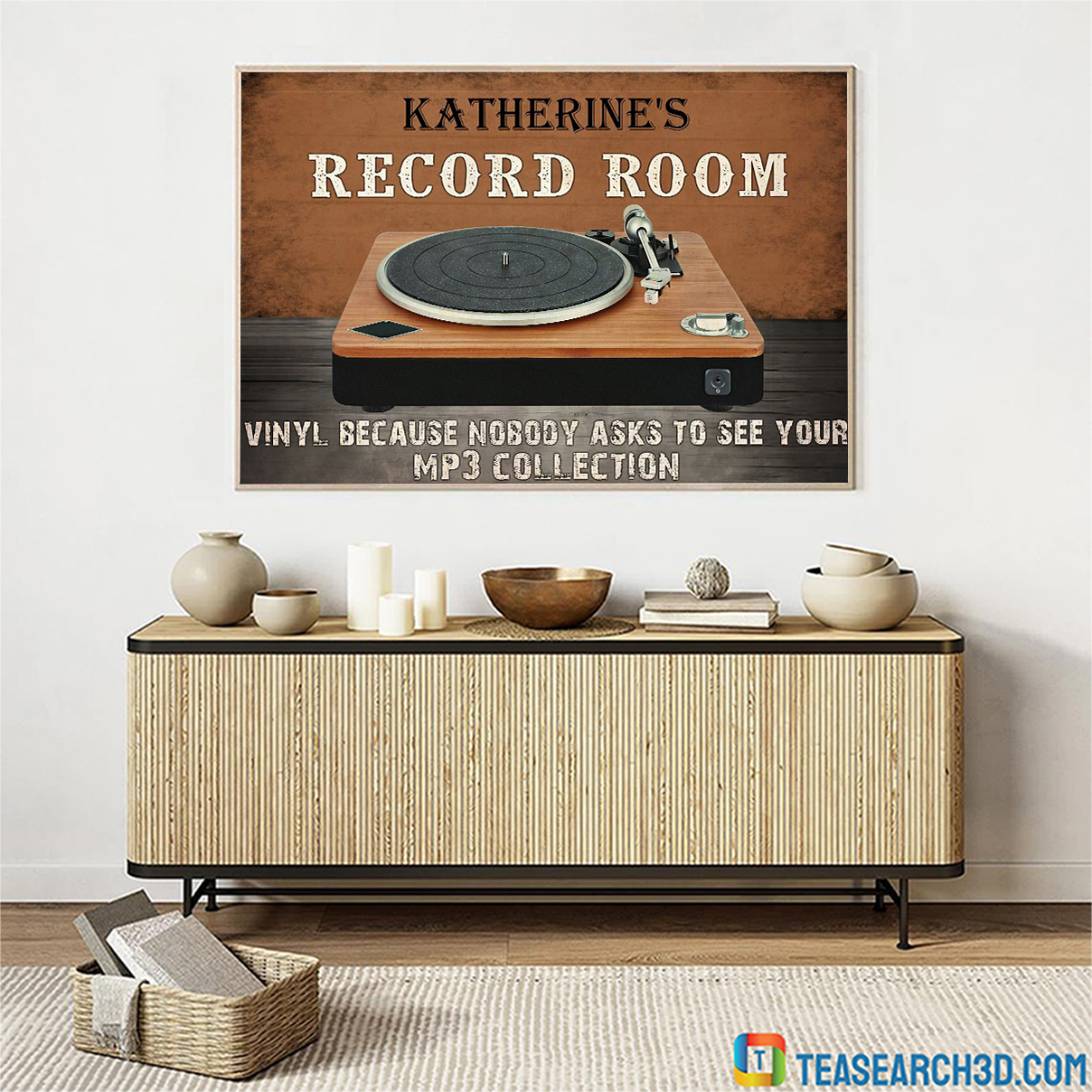 Personalized custom name record room vinyl because nobody asks to see poster A3