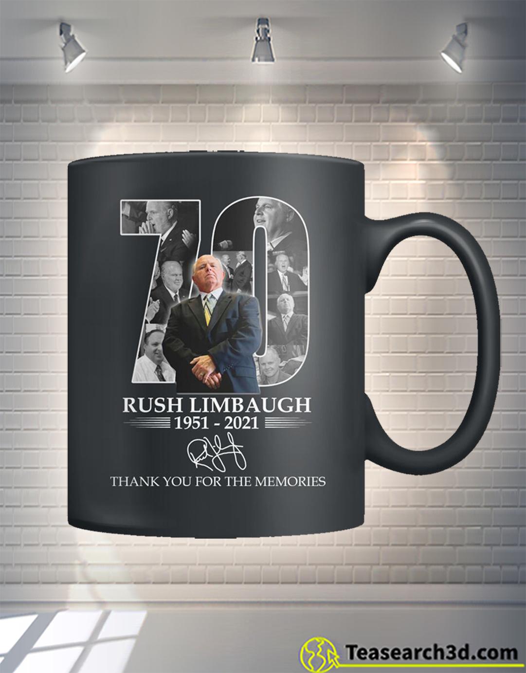 Rush Limbaugh thank you for the memories mug 15oz