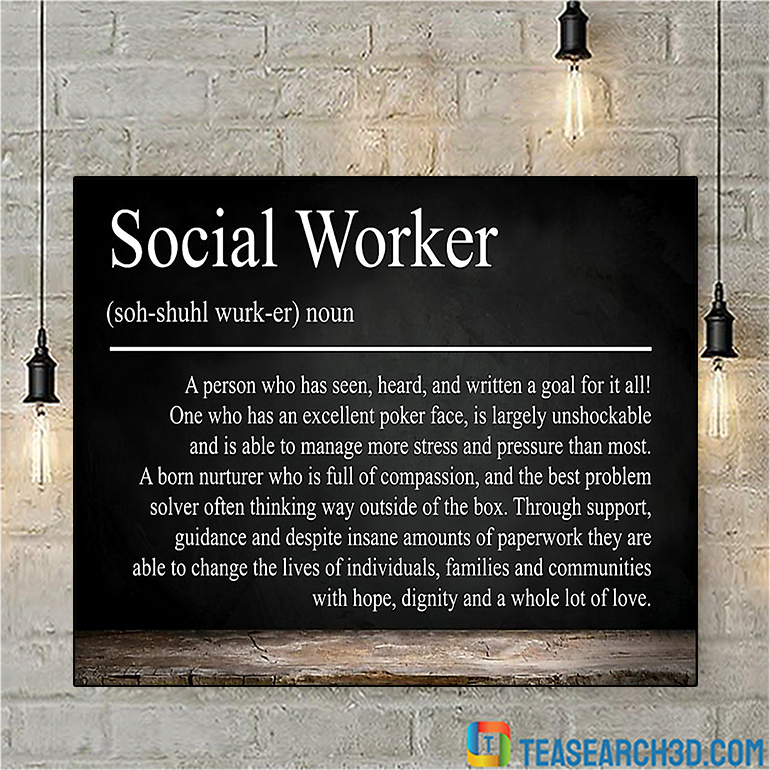 Social worker A person who has seen poster poster A1
