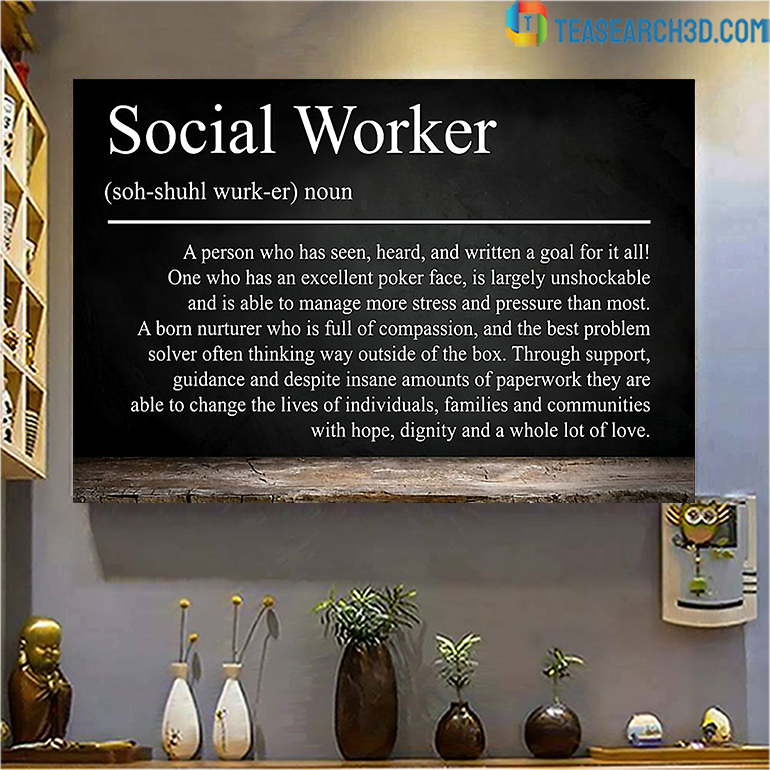 Social worker A person who has seen poster poster A2