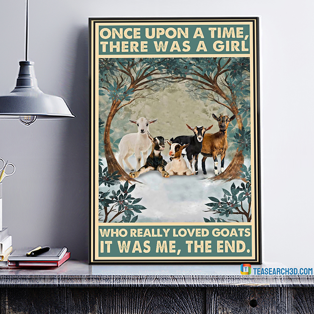 There was a girl who really loved goats it was me the end poster A1