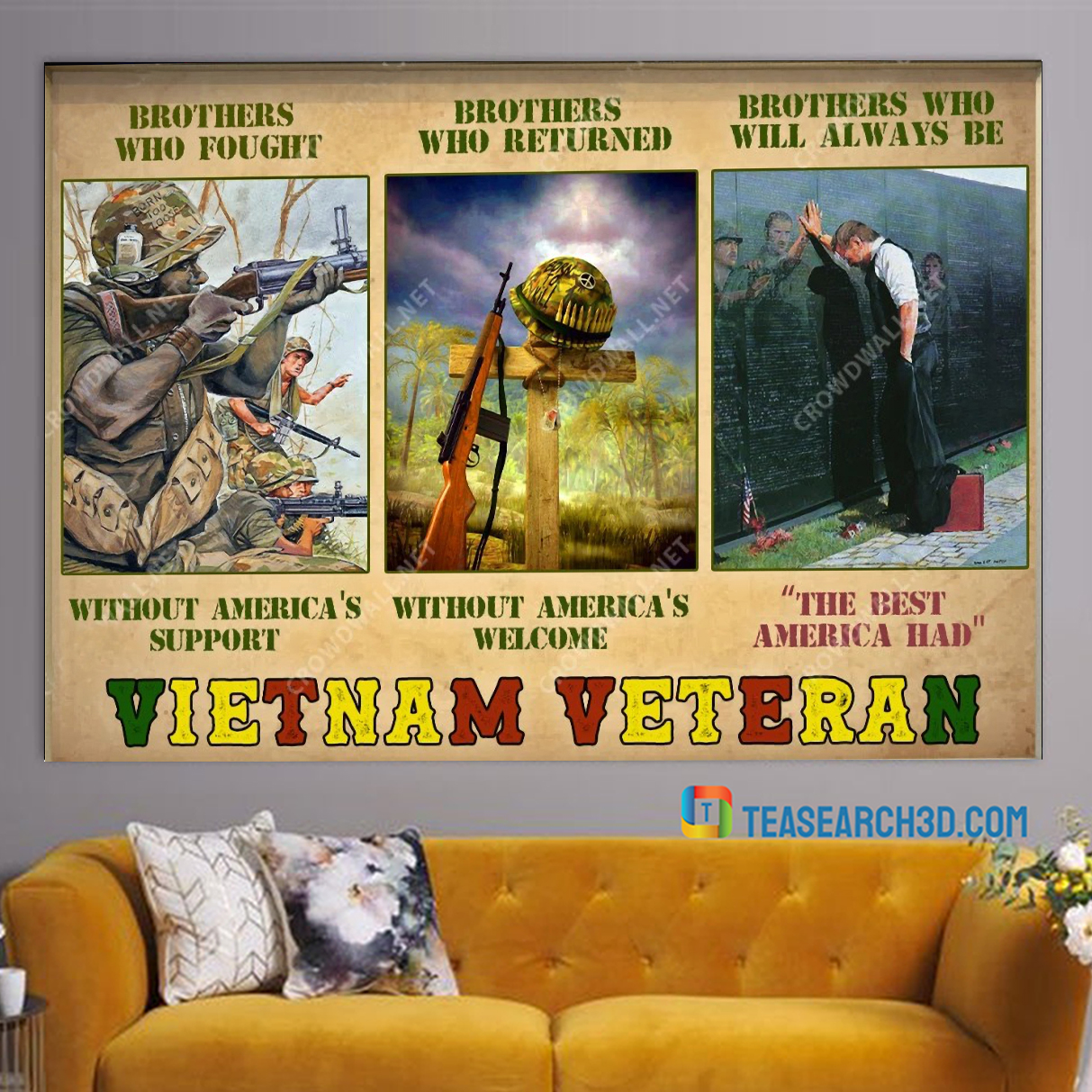 Vietnam veteran brothers who fought without america's support poster A2