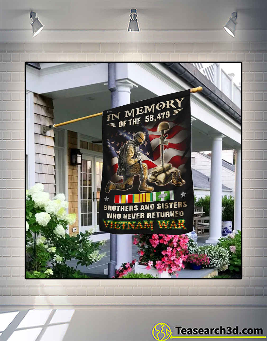 Vietnam veteran in memory brothers and sisters who never returned flag