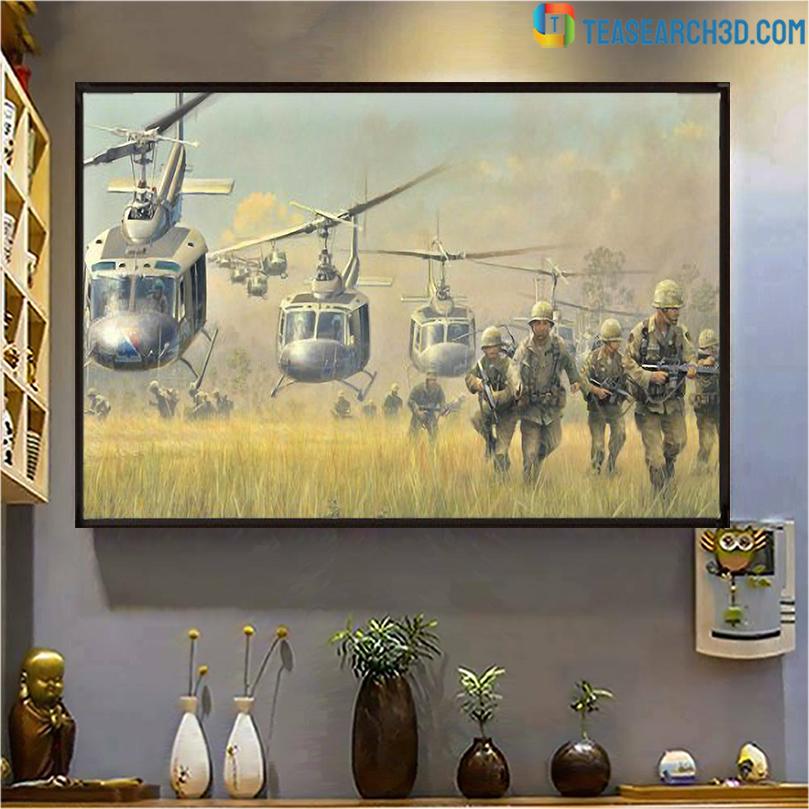 Vietnam war helicopter canvas large