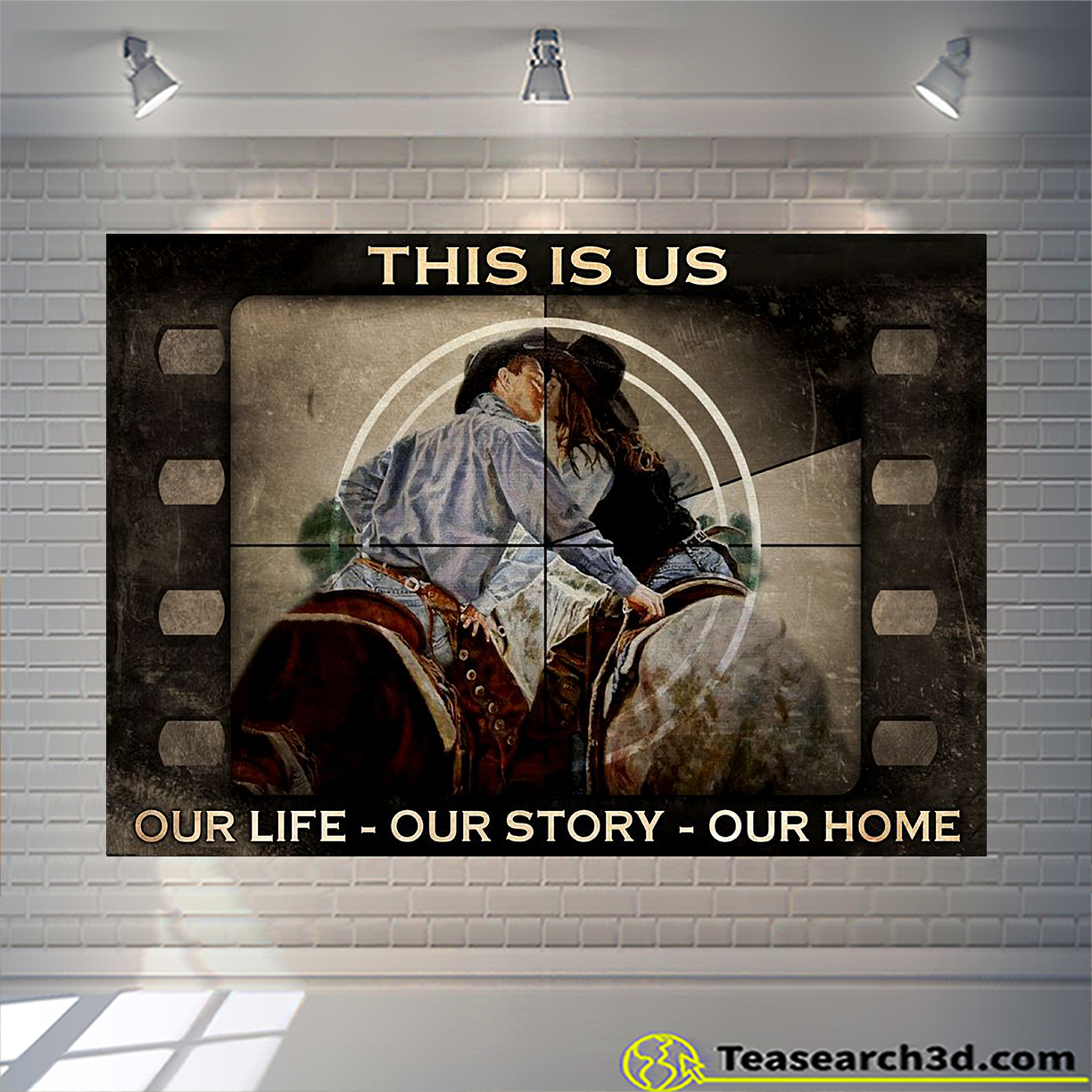 Vintage movie cowboy couple this is us poster A2