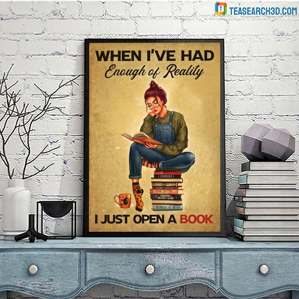 When I've had enough of reality I just open a book poster