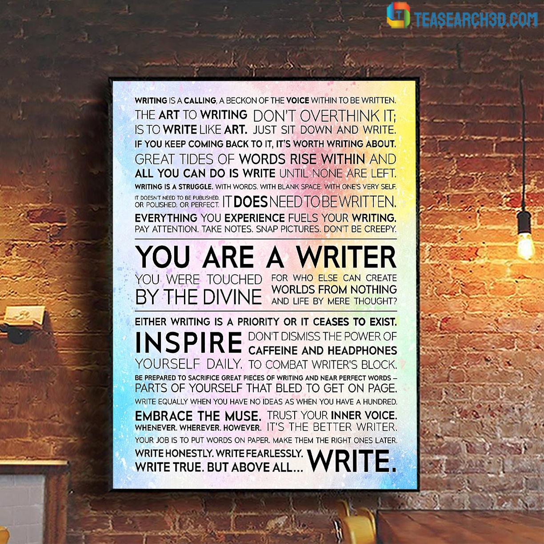 Writer manifesto poster A1