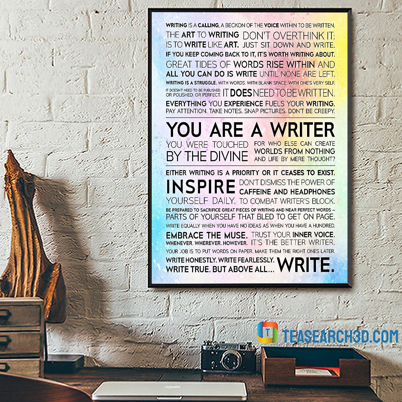 Writer manifesto poster A2