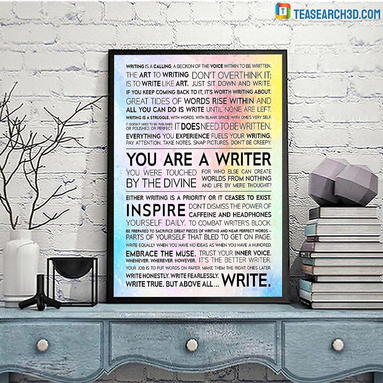 Writer manifesto poster A3