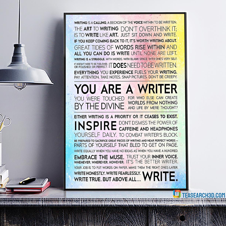 Writer manifesto poster A4