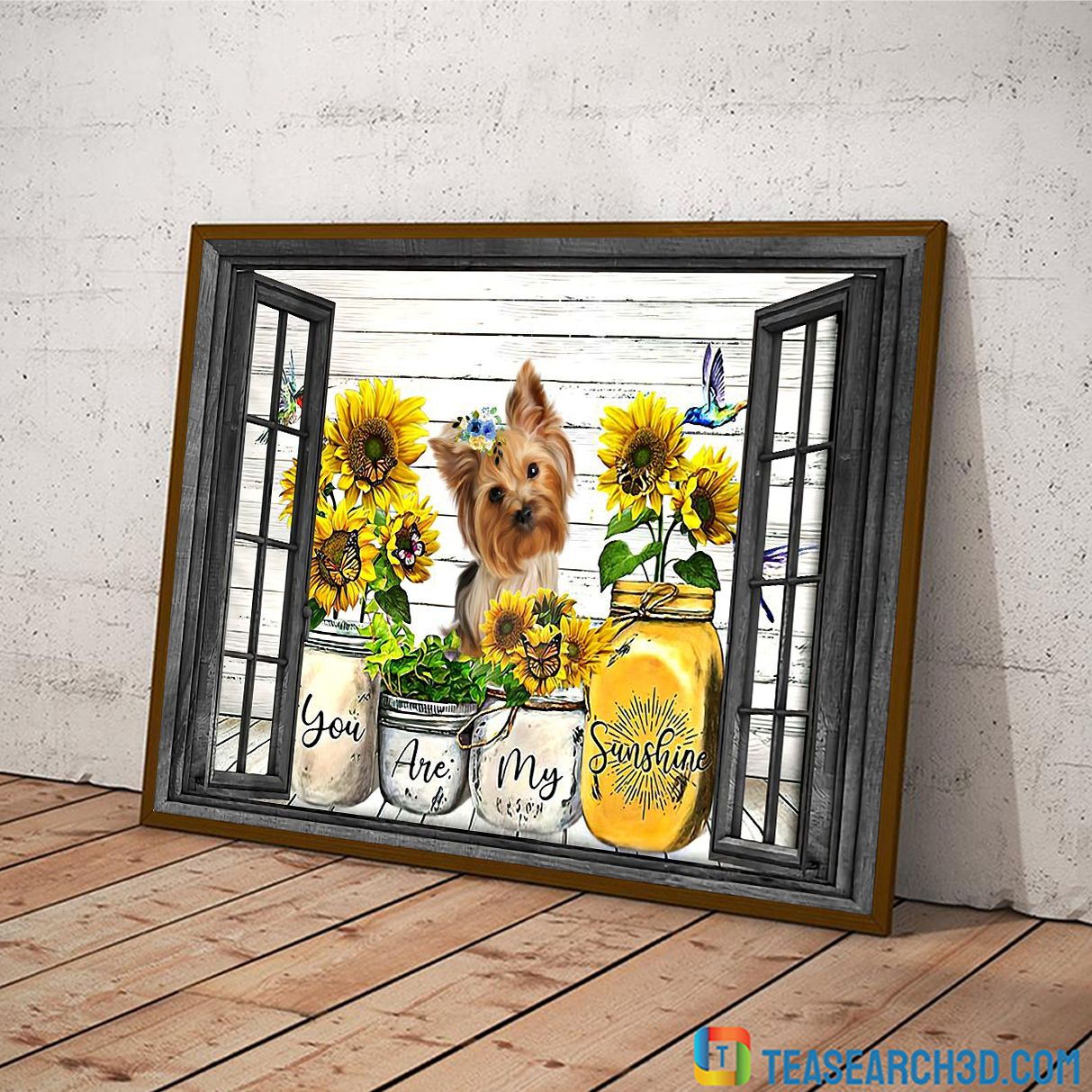 Yorkshire Terrier you are my sunshine window poster A4