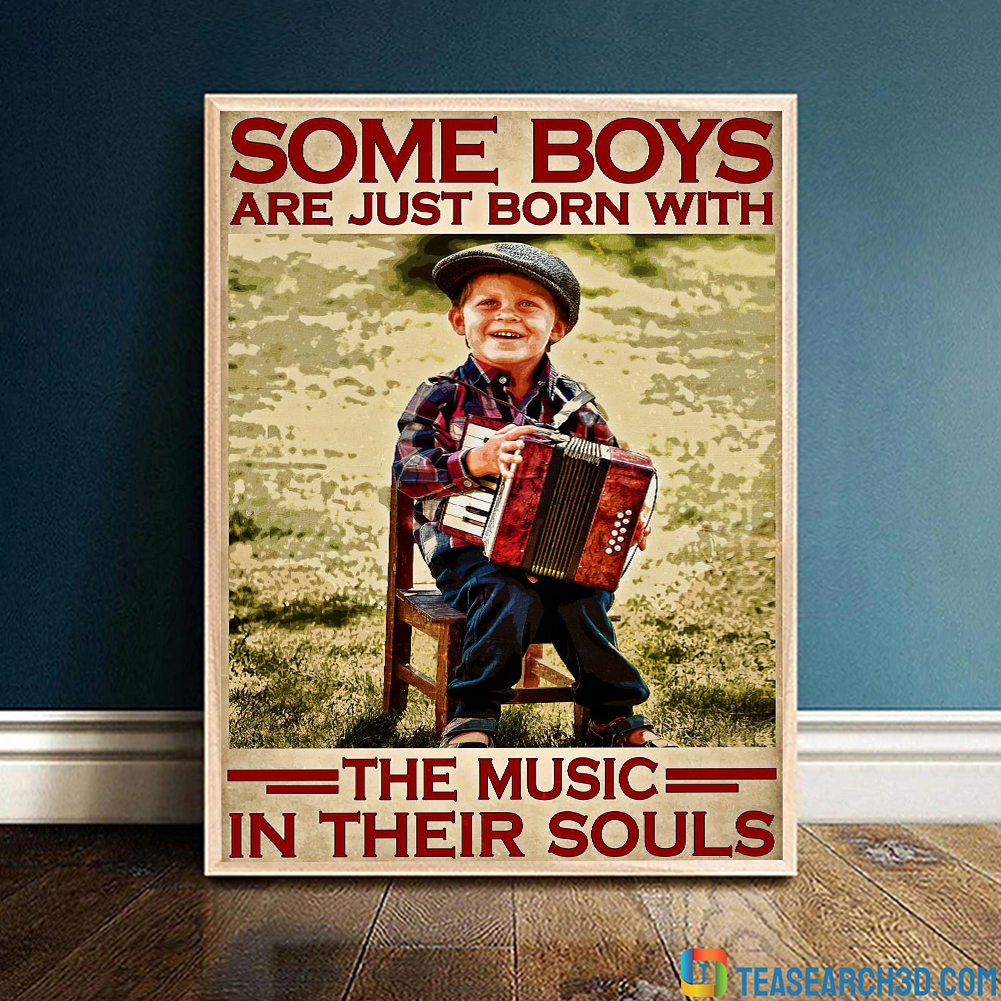 Accordion some boys are just born with the music in their souls poster