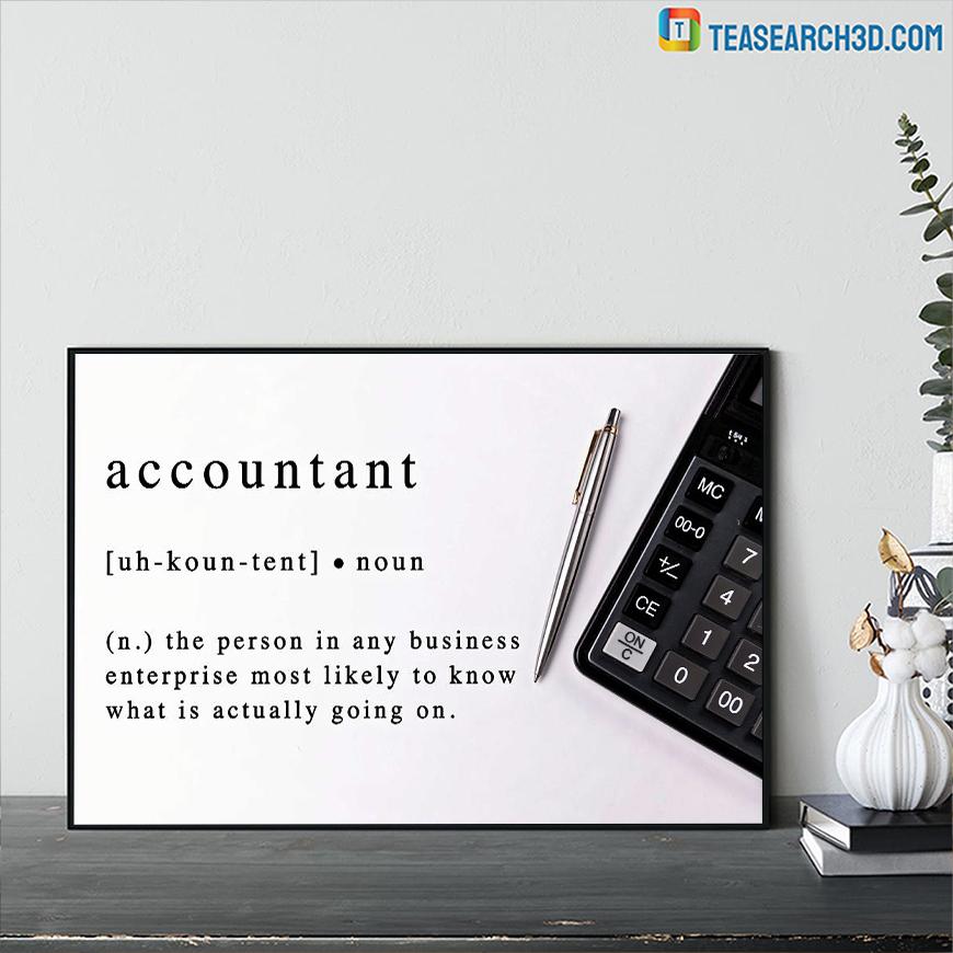 Accountant noun definition poster A1
