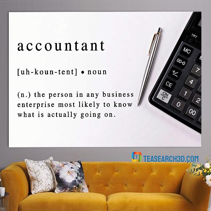 Accountant noun definition poster A2