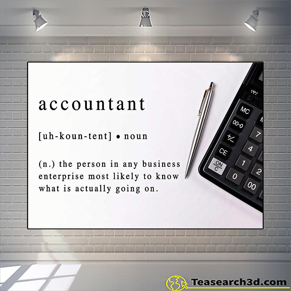 Accountant noun definition poster
